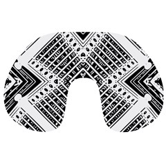 Pattern Tile Repeating Geometric Travel Neck Pillows