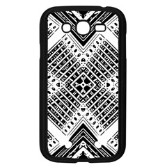 Pattern Tile Repeating Geometric Samsung Galaxy Grand Duos I9082 Case (black)
