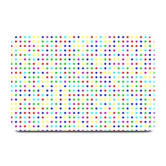 Dots Color Rows Columns Background Plate Mats