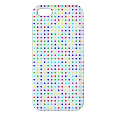 Dots Color Rows Columns Background Apple Iphone 5 Premium Hardshell Case