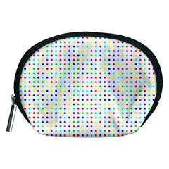Dots Color Rows Columns Background Accessory Pouch (medium)