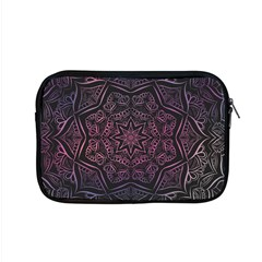 Mandala Neon Symmetric Symmetry Apple Macbook Pro 15  Zipper Case by Pakrebo