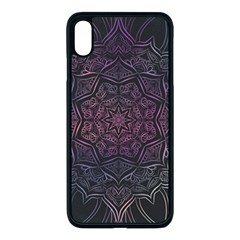 Mandala Neon Symmetric Symmetry Apple Iphone Xs Max Seamless Case (black)
