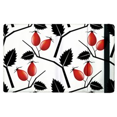 Rose Hip Pattern Branches Autumn Apple Ipad 2 Flip Case