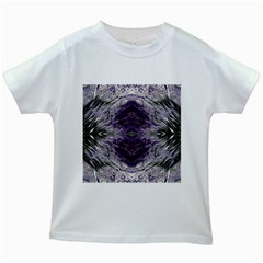 Pattern Abstract Horizontal Kids White T Shirts