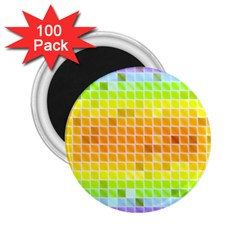 Pattern Geometric Square Art 2 25  Magnets (100 Pack)