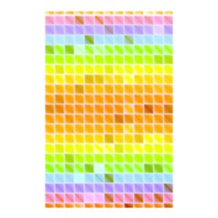Pattern Geometric Square Art Shower Curtain 48  X 72  (small)