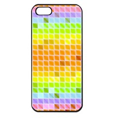 Pattern Geometric Square Art Apple Iphone 5 Seamless Case (black)