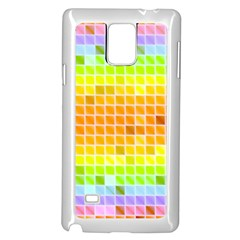 Pattern Geometric Square Art Samsung Galaxy Note 4 Case (white)