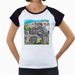 Village Place Portugal Landscape Women s Cap Sleeve T by Pakrebo