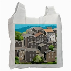 Village Place Portugal Landscape Recycle Bag (two Side) by Pakrebo