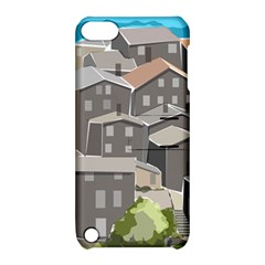 Village Place Portugal Landscape Apple Ipod Touch 5 Hardshell Case With Stand