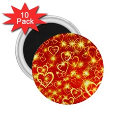 Pattern Valentine Heart Love 2 25  Magnets (10 Pack)  by Mariart