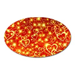 Pattern Valentine Heart Love Oval Magnet