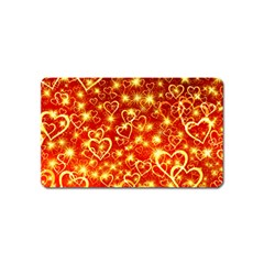 Pattern Valentine Heart Love Magnet (name Card) by Mariart