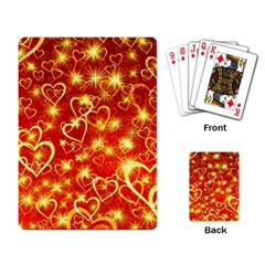 Pattern Valentine Heart Love Playing Cards Single Design