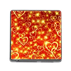 Pattern Valentine Heart Love Memory Card Reader (square 5 Slot)