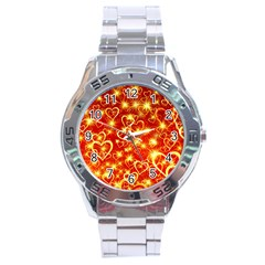 Pattern Valentine Heart Love Stainless Steel Analogue Watch