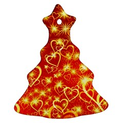 Pattern Valentine Heart Love Ornament (christmas Tree)