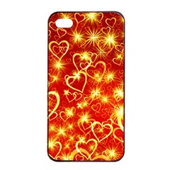 Pattern Valentine Heart Love Apple Iphone 4/4s Seamless Case (black)