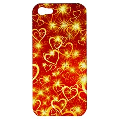 Pattern Valentine Heart Love Apple Iphone 5 Hardshell Case by Mariart