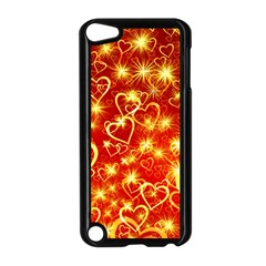 Pattern Valentine Heart Love Apple Ipod Touch 5 Case (black)