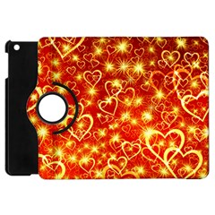Pattern Valentine Heart Love Apple Ipad Mini Flip 360 Case