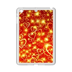 Pattern Valentine Heart Love Ipad Mini 2 Enamel Coated Cases by Mariart