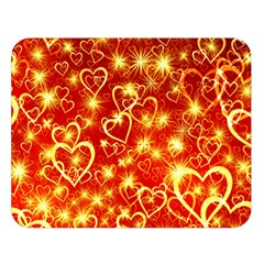 Pattern Valentine Heart Love Double Sided Flano Blanket (large)  by Mariart