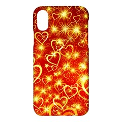 Pattern Valentine Heart Love Apple Iphone X Hardshell Case