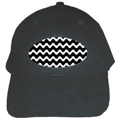 Wave Pattern Wave Halftone Black Cap