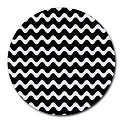 Wave Pattern Wave Halftone Round Mousepads