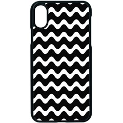Wave Pattern Wave Halftone Apple Iphone Xs Seamless Case (black)