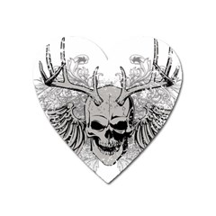 Skull Vector Heart Magnet by Alisyart