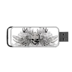 Skull Vector Portable Usb Flash (two Sides)