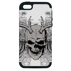 Skull Vector Apple Iphone 5 Hardshell Case (pc+silicone)