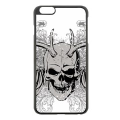 Skull Vector Apple Iphone 6 Plus/6s Plus Black Enamel Case