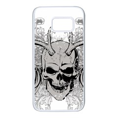 Skull Vector Samsung Galaxy S7 White Seamless Case