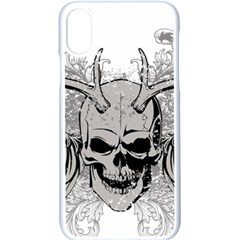 Skull Vector Apple Iphone Xs Seamless Case (white)