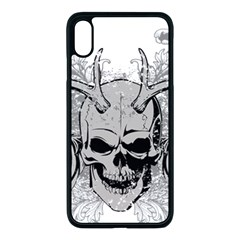 Skull Vector Apple Iphone Xs Max Seamless Case (black)