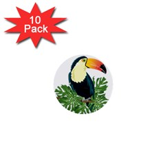 Tropical Birds 1  Mini Buttons (10 Pack)