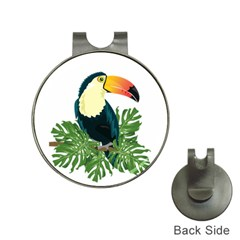 Tropical Birds Hat Clips With Golf Markers