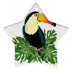 Tropical Birds Star Ornament (two Sides)