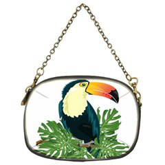 Tropical Birds Chain Purse (two Sides)