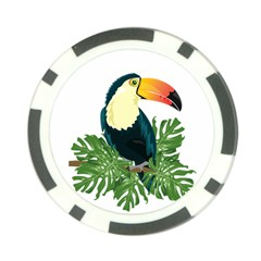 Tropical Birds Poker Chip Card Guard (10 Pack)