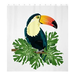 Tropical Birds Shower Curtain 66  X 72  (large)