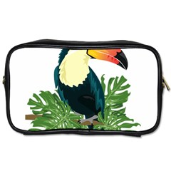 Tropical Birds Toiletries Bag (two Sides)
