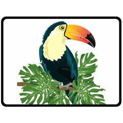 Tropical Birds Fleece Blanket (large)
