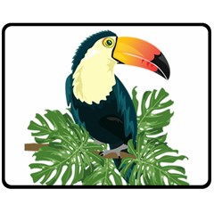 Tropical Birds Fleece Blanket (medium)