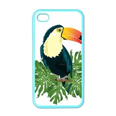 Tropical Birds Apple Iphone 4 Case (color)